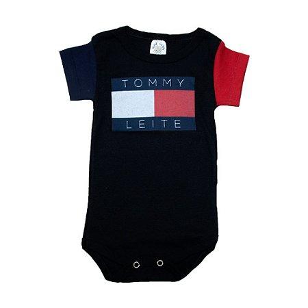 Body Bebê Tommy Leite Meu Bebê Preto