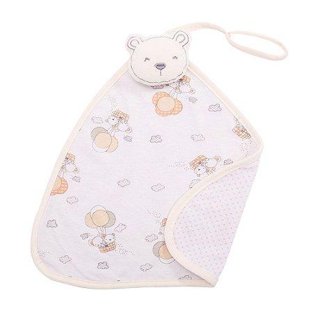 Naninha Bebê Com Prendedor de Chupeta Urso Papi Bege