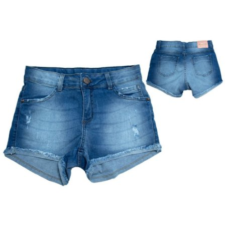 Shorts Jeans Juvenil Jeito Infantil Azul