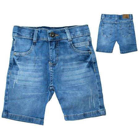 Bermuda Jeans Infantil Jeito Infantil Azul