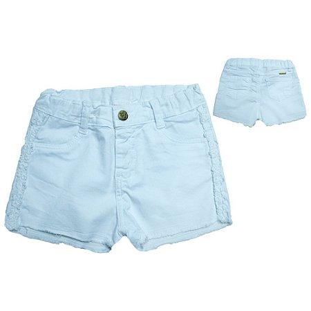 Shorts Sarja Infantil Com Guipir Jeito Infantil Branco