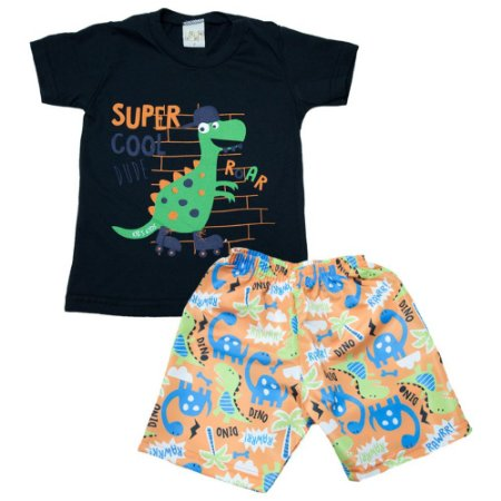 Conjunto Infantil Dino Kibs Kids Preto