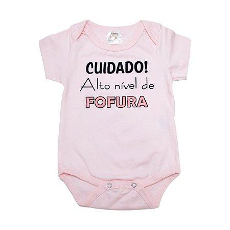 Body Bebê Alto Nível De Fofura Nanny Baby Rosa
