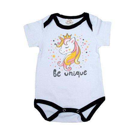 Body Bebê Unicórnio Nanny Baby Branco