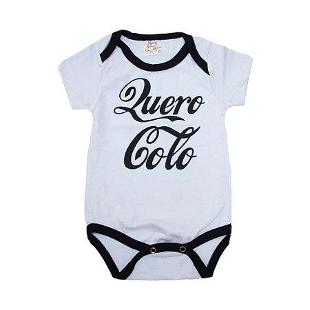Body Bebê Quero Colo Nanny Baby Branco