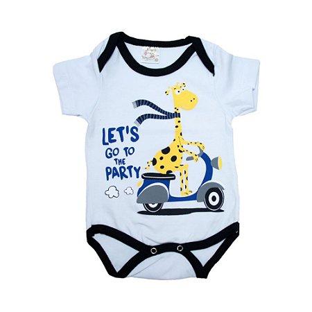 Body Bebê Girafa Nanny Baby Branco