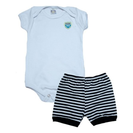 Conjunto Bebê Body Menino Meu Bebê Branco