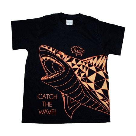 Camiseta Infantil Tubarão Molekada Preto