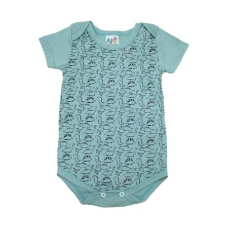 Body Bebê Dino Jeito Infantil Verde