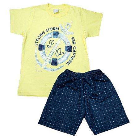 Conjunto Infantil Âncora Molekada Amarelo