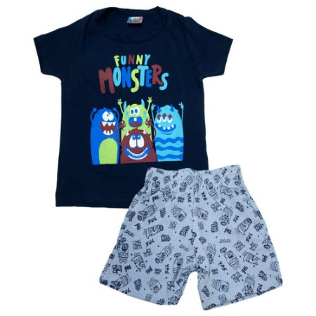 Conjunto Infantil Monsters Inova Kids Marinho