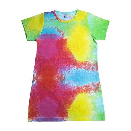 Vestido Infantil Tie Dye Veste Kids