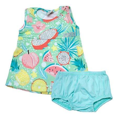 Vestido Bebê Mix Frutas Kibs Kids Verde