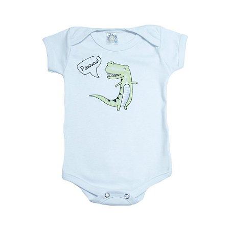 Body Bebê Dino Meu Bebê Branco