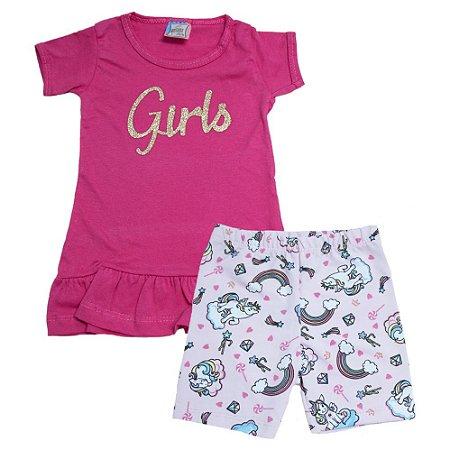 Conjunto Infantil Girls Inova Kids Pink