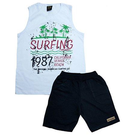 Conjunto juvenil Surfing Difusão Branco
