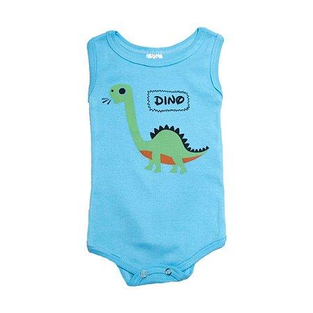 Body Regata Bebê Dino Meu Bebê Azul