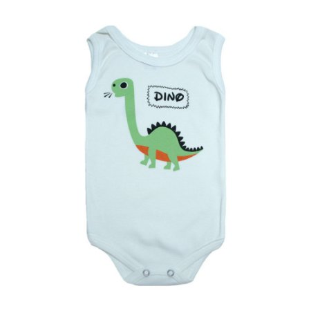 Body Regata Bebê Dino Meu Bebê Pérola