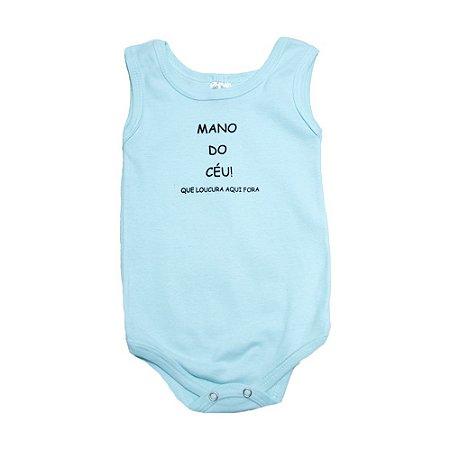 Body Regata Bebê Mano Do Céu  Meu Bebê Verde