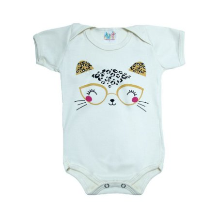 Body Bebê Gatinha  Jeito Infantil Pérola
