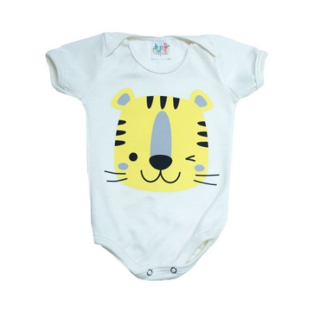 Body Bebê Tigre Jeito Infantil Pérola