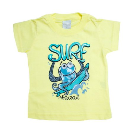 Camiseta Bebê Surf Molekada Amarelo