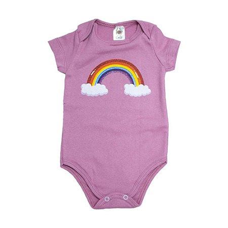 Body Bebê Arco Íris Dlook Rosê