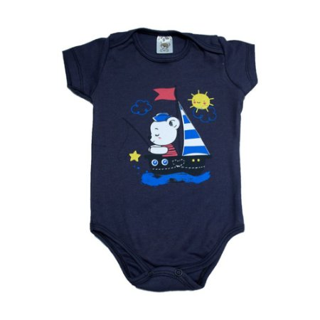 Body Bebê Urso Marinheiro Dlook Marinho
