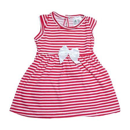 Vestido Bebê Listras Uni Duni Coral