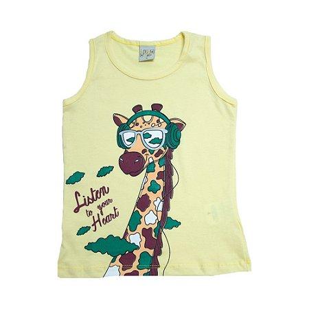 Regata Infantil Girafa Kibs Kids Amarela