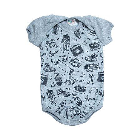 Body Bebê Astronauta Jeito Infantil Mescla