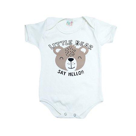 Body Bebê Ursinho Jeito Infantil Pérola