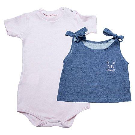 Body Bebê Com Blusa Baby Gut Rosa
