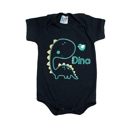 Body Bebê Dino Jeito Infantil Preto