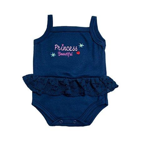 Body Bebê Alcinha Princess Feroz Baby Marinho
