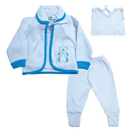 Conjunto Bebê Pagão  Vira Pé Feroz Baby Turquesa