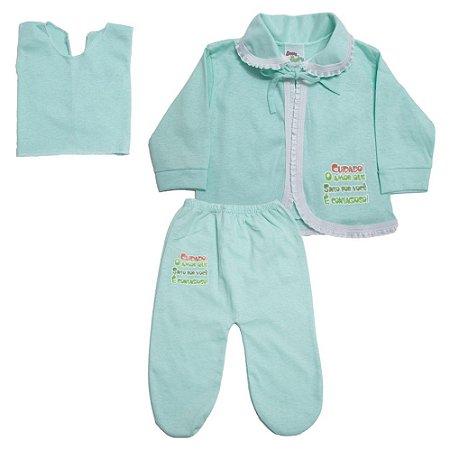 Conjunto Bebê Pagão Feroz Baby Verde