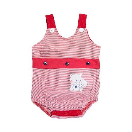 Body Bebê Listras Feroz Baby Vermelho