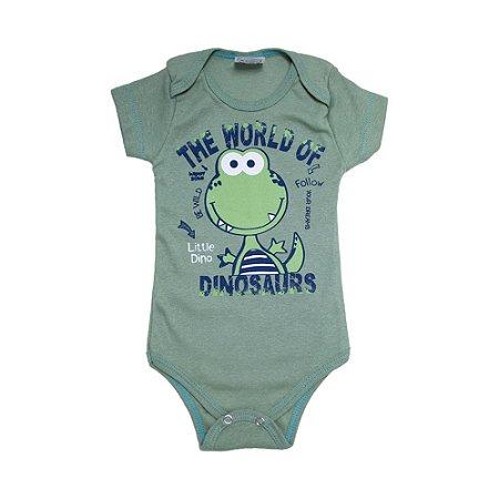 Body Bebê Dinosaurs Lolita Verde