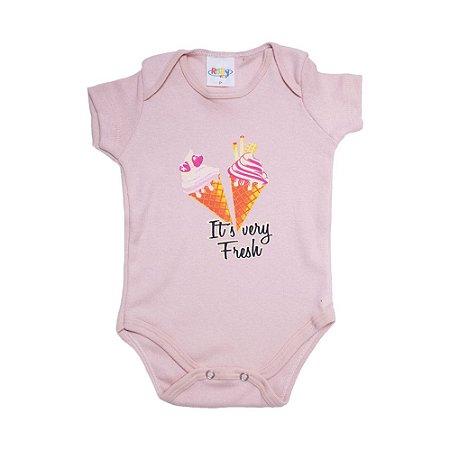 Body Bebê Sorvete Roby Kids Rose