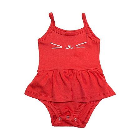 Body Bebê Alcinha Com Babado Baby Gut Vermelho