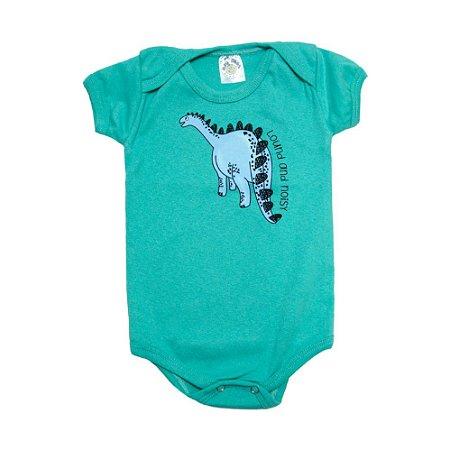 Body Bebê Dino Meu Bebê Verde Claro