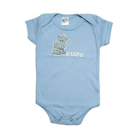 Body Bebê Cute Meu Bebê Azul