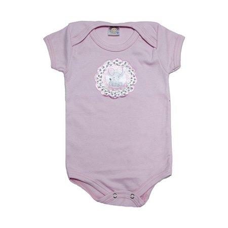 Body Bebê Elefante Meu Bebê Rosa
