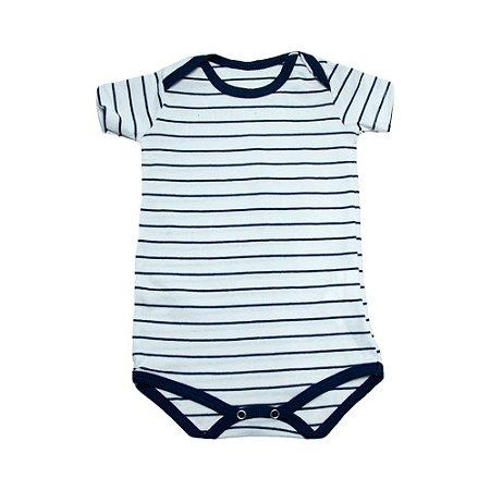 Body Bebê Listras Baby Gut Branco