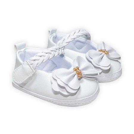 Sapatilha Bebê Trança Branco