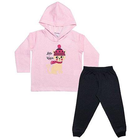 Conjunto Infantil Gatinho Rosa