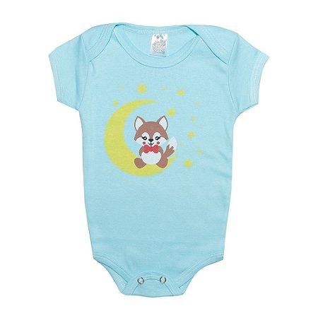 Body Bebê Raposa Azul