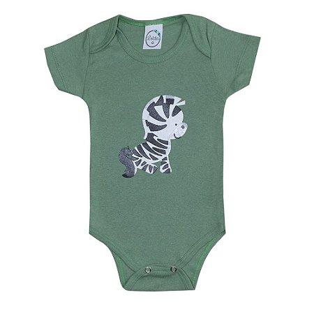 Body Bebê Zebra Verde