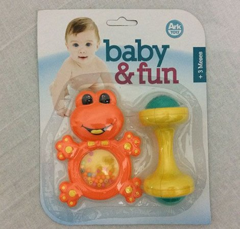 Chocalho Baby Fun Sapinho Colorido